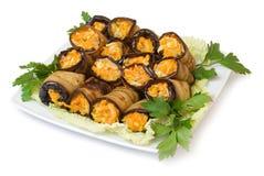 Eggplant rolls Royalty Free Stock Image