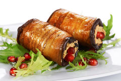 Eggplant rolls Royalty Free Stock Photos