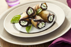 Eggplant rolls Stock Photography