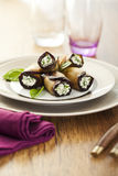 Eggplant rolls Royalty Free Stock Images