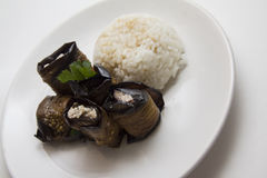 Eggplant rolls with rice Royalty Free Stock Photos