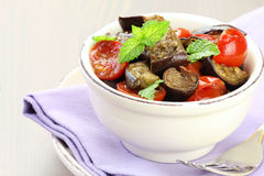 Eggplant salad Stock Photo