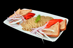 Eggplant salad, romanian cuisine Stock Photo