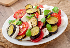 Eggplant salad Stock Photography