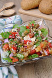 Eggplant salad with vegetables Royalty Free Stock Image