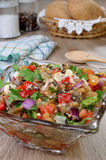 Eggplant salad with vegetables Stock Photography