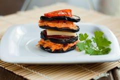 Eggplant sandwich Royalty Free Stock Photos