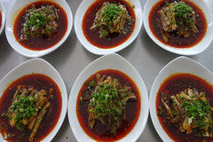 Eggplant in sauce. Royalty Free Stock Photos