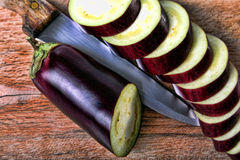 Eggplant sliced Royalty Free Stock Images