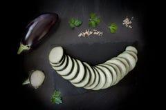 Eggplant Slices Royalty Free Stock Photo