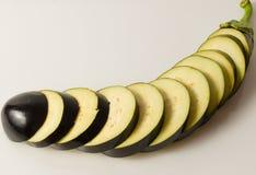 Eggplant slices stock image