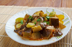 Eggplant stewed with mushroom Stock Photography