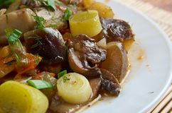 Eggplant stewed with mushroom Royalty Free Stock Photography