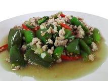 Eggplant Stir Fried Pork stock images