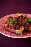 Eggplant stuffed Stock Images