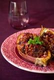 Eggplant stuffed Stock Image