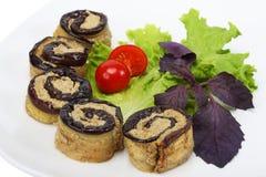 Eggplant stuffed Royalty Free Stock Images