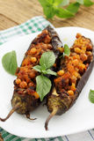 Eggplant stuffed with chick-pea Royalty Free Stock Photo