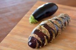 Eggplant stuffed with mince Stock Photos