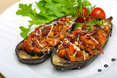 Eggplant stuffed minced meat Royalty Free Stock Photo