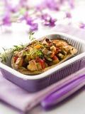Eggplant stuffed with tofu Royalty Free Stock Photography