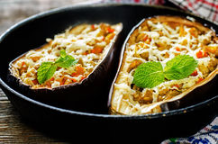 Eggplant stuffed with vegetables Royalty Free Stock Photos