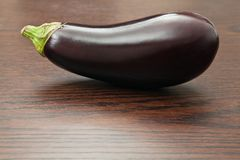 Eggplant on a table Royalty Free Stock Images