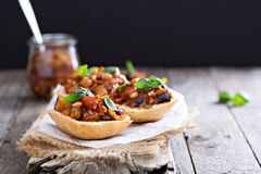 Eggplant and tomato caponata Royalty Free Stock Photo