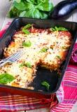 Eggplant, tomato and cheese bake Royalty Free Stock Photos
