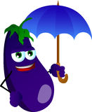 Eggplant with umbrella Stock Photography