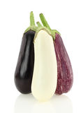 Eggplant varieties Stock Photo