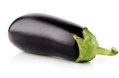 Eggplant vegetable fruit isolated on white Royalty Free Stock Photography