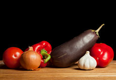 Eggplant and vegetable Royalty Free Stock Photography
