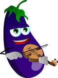 Eggplant with violin Stock Photo