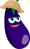Eggplant wearing scout or explorer hat Stock Photography
