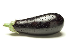 Eggplant whit drops Royalty Free Stock Photo