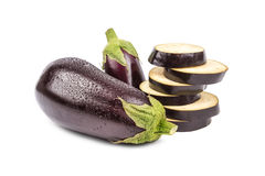 Eggplant on the white Stock Images