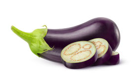 Eggplant. On white background royalty free stock photos