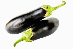 Eggplant on white background royalty free stock photos