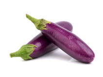 Eggplant on white background Stock Photos