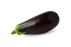 Eggplant on white background stock photography