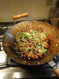 Eggplant with Yu Xiang Sauce stock image