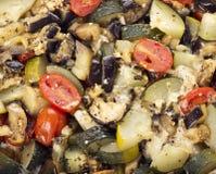 Eggplant,zucchini and tomato with mozzarella Stock Photo