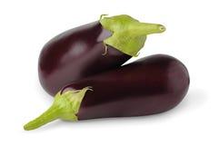 Eggplants. Isolated eggplants. Two fresh eggplants isolated on white background royalty free stock photography