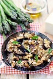 Eggplants aubergines sautéed with breadcrumbs and cheese Royalty Free Stock Photography