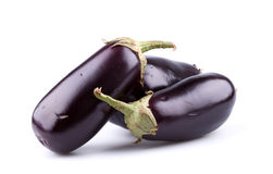 Eggplants or aubergines Stock Images
