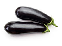 Eggplants with clipping path. Eggplants isolated on white background with CLIPPING PATH Stock Photos