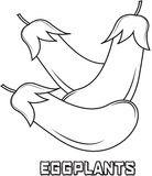 Eggplants coloring page Royalty Free Stock Image