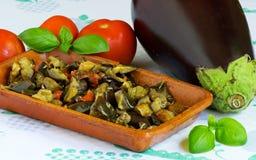 Eggplants course Royalty Free Stock Photo