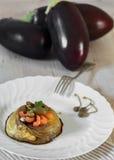 Eggplants Flan Stock Photo